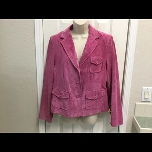 Style & Co Pink leather blazer